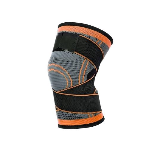 1 STÜCK Knie Unterstützung Professionelle Protectives Sport Knieschützer Atmungsaktive Bandage Schwarz + grau M
