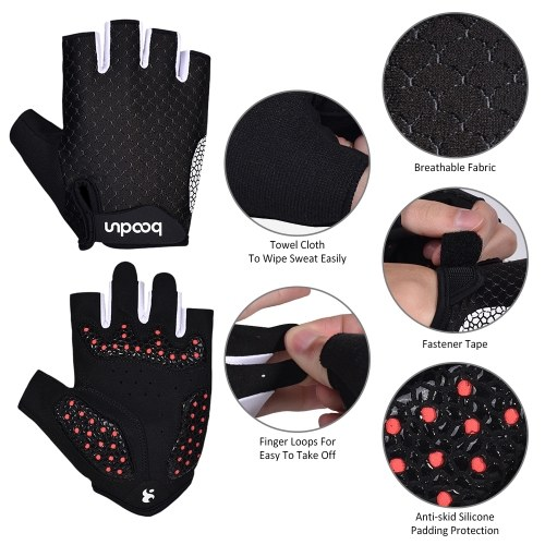 Cycling Gloves Unisex Half Finger Riding Gloves