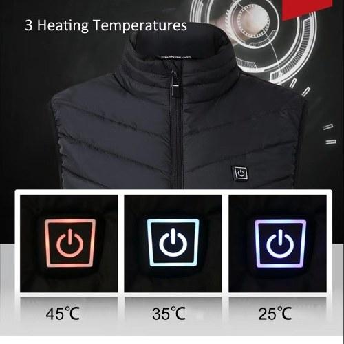 USB Назад Шеи Электрическое Отопление Теплый Жилет мужская Хлопковая Куртка Без Рукавов Открытый Отопление Одежда фото