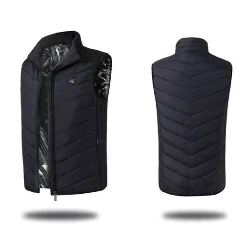 USB de volta pescoço aquecimento elétrico colete quente dos homens sem mangas jaqueta de algodão roupas de aquecimento ao ar livre