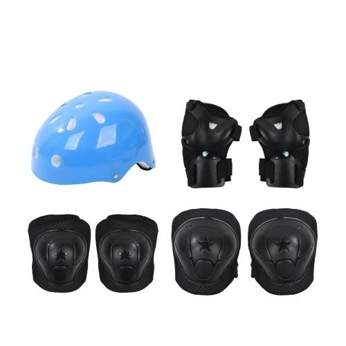 Kids Outdoor Sports Schutzausrüstung Sicherheitspads Set Helm