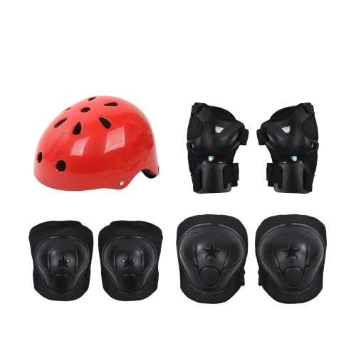 Kids Outdoor Sports Protective Gear Safety Pads Set Helmet Image