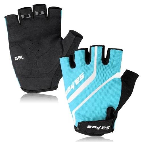MTB Sport Bike Half Finger Cycling Gloves Anti-skid Bike Short Finger Gloves Weight Lifting Gloves Summer Outdoor Breathable Gloves Fitness Sport Gloves Image