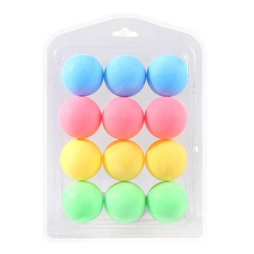 12 Stück bunte Tischtennisbälle Tischtennis Dekor Bälle Multifunktionale Tischtennisbälle Amateur Training Übungsbälle Unterhaltung Spielzeug Geschenk