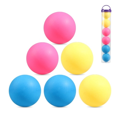 6 Pcs 3-Star 40mm Table Tennis Balls Super Durable ABS Plastic Table Tennis Balls Table Tennis Decor Balls Multi-functional Ping Pong Ball Professional Training Practice Balls Entertainment Toy Gift