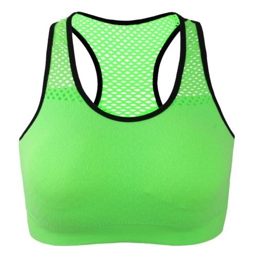 Women Racerback Sports Bra Wirefree Padded Yoga Bra Workout Gym Activewear Top