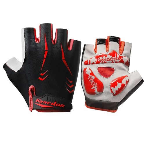 Cycling Gloves Half-finger Anti-Slip Wear-proof Shake-proof Adjustable Breathable Fitness Bicycle Climbing Sport Gloves Image