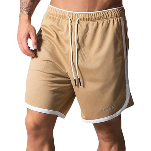 Men Sports Shorts Quick-Dry Pockets Loose Elastic Basketball Running Shorts Fitness Gym Workout Pants