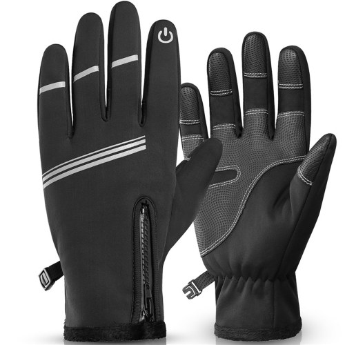 Cycling Gloves Outdoor Sport Winter Cycling Gloves Thermal Fleece Touchs Screen Outdoor Sport Skiing Climbing Motorcycle Bicycle Waterproof Gloves Image