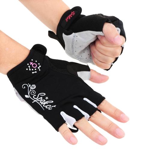 Spakct 女子半分指短い指手袋サイクリング通気性耐震性