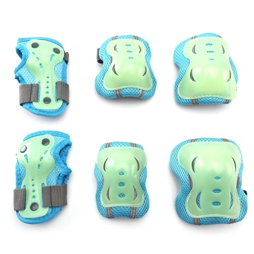Adult Kids Outdoor Sports Protective Gear Safety Pads Set Knee Elbow Wrist Protection Pads Body Protective Guards for Roller Scooter Skateboard Bicycle