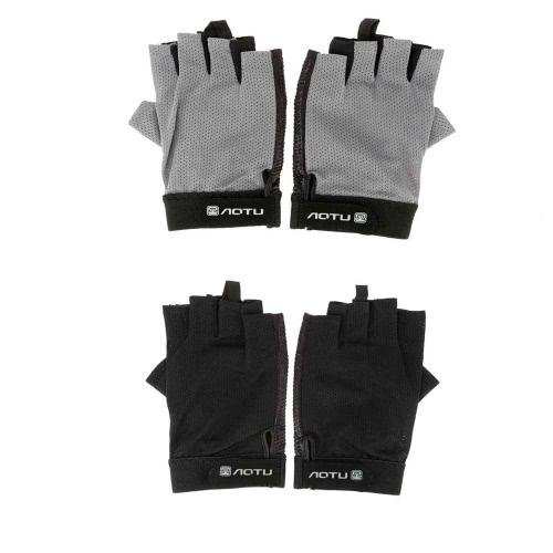 Image of Radfahren Fahrrad Bike Handschuhe halben Finger Unisex Handschuhe Skidproof Outdoor Sport Handschuhe