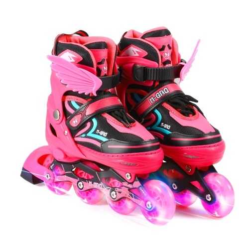 Lixada Adjustable Inline Skates with Illuminating Wheels Skates Outdoor Skates For Kids Boys Girls Ladies