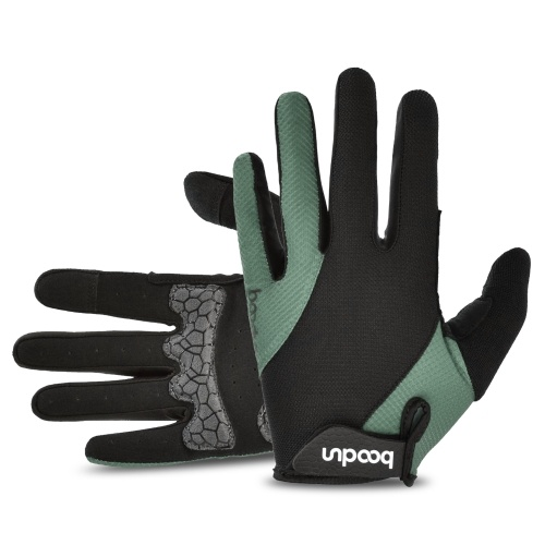 Mountain Bike Gloves Full Finger Cycling Breathable Gloves Anti-skid Mountain Bike Gloves Wear-resistant Women and Men Gel Palm Mittens Shock-Absorbing Road Bicycle Gloves