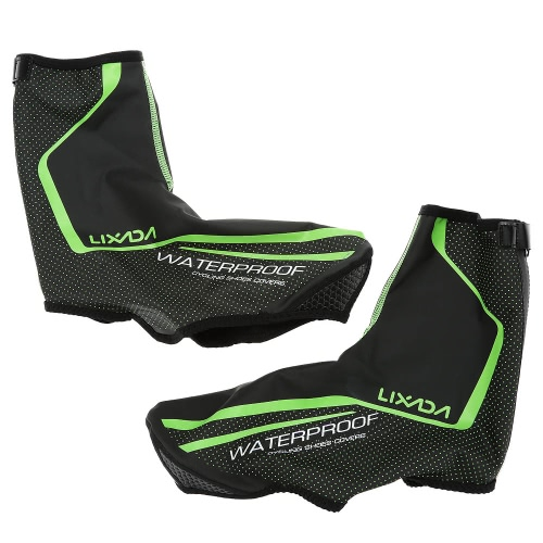 Lixada Outdoor Sports Cycling Bicycle Shoe Covers Thermal MTB Mountain Bike Waterproof Windproof Overshoes Protector