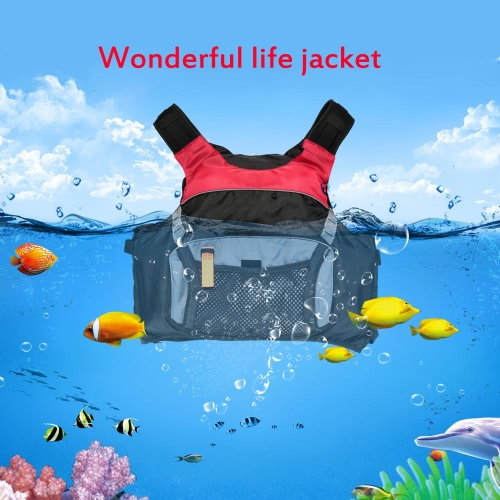Profesional de flotación de seguridad para adultos Chaleco salvavidas Chaleco Supervivencia Con Kayak Canotaje A la deriva con la emergencia del silbido