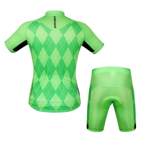 Unisex Breathable Comfortable Short Sleeve Padded Shorts Cycling Clothing Set Riding Sportswear Image
