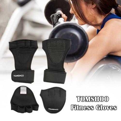 Guanti TOMSHOO Unisex pesi con impugnatura dell'involucro del polso della mano Pad Bundle Set per Uomo e Donna 2-in-1 Bundle Fitness per la formazione Croce