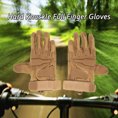 Nudillo duro tácticos Guantes de deportes del dedo lleno de disparo de paintball de caza La conducción de motocicletas