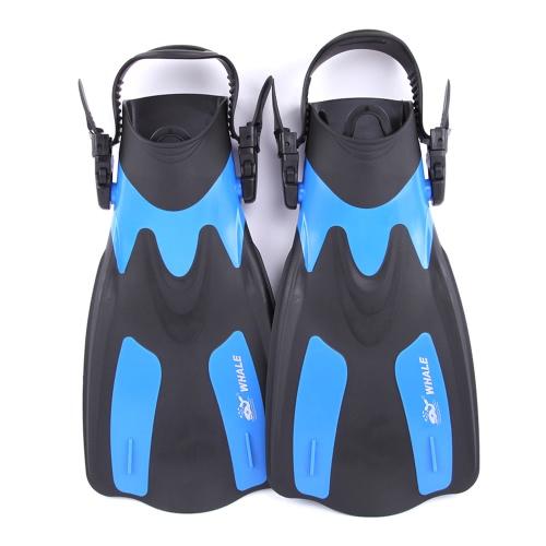WHALE Erwachsene Kurz Schnorcheln Schwimmen Flossen Flossen mit verstellbaren Fersen Wassersport