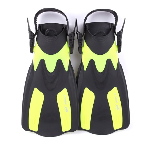 WHALE adulti brevi Snorkeling nuotata Pinne Pinne con tacco regolabile Sport acquatici