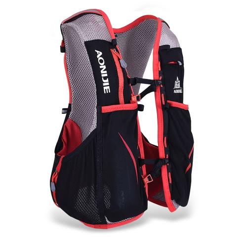 AONIJIE 5L sport esterno di corsa della maglia Zaino donne / uomini idratazione Vest Pack per 1.5L Water Bag bicicletta Escursionismo Bag
