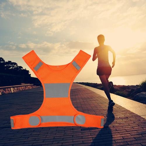 Esterno funzionare Gilet catarifrangente regolabile Leggero sicurezza Vest Sport ingranaggi per le donne gli uomini Jogging Ciclismo A piedi