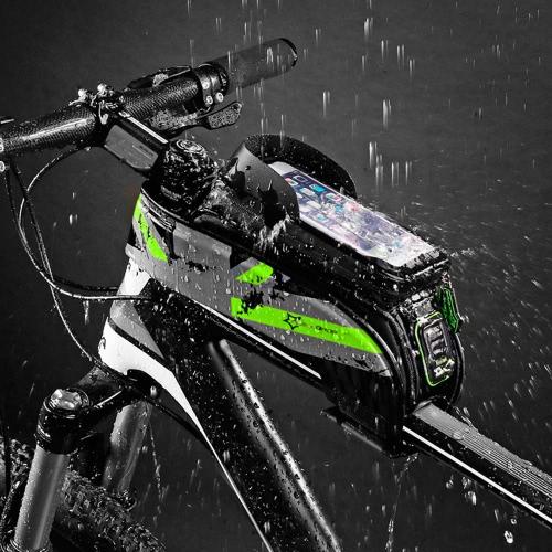 ROCKBROS Bicicletta bicicletta impermeabile resistente all'acqua in bicicletta Bicicletta anteriore del tubo del telaio Custodia resistente all'acqua per il telefono cellulare touchscreen per smartphone da 5,8