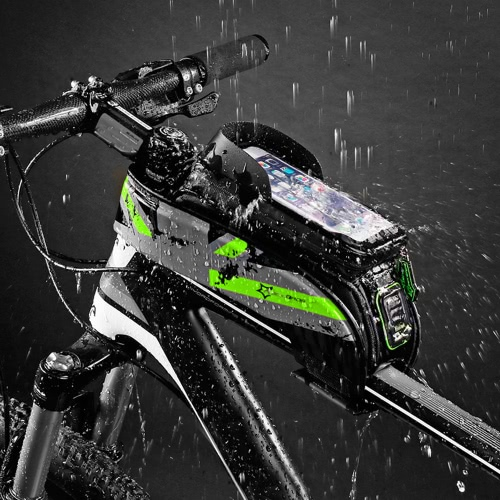 ROCKBROS Resistente al agua Ciclismo Bicicleta Bicicleta Top Front Tubo Marco Bolsa Resistente al agua Touchscreen Phone Holder caso para 5.8