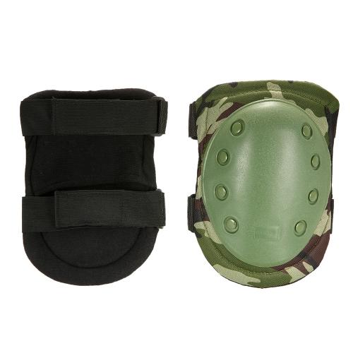 Lixada 2PCS Heavy Duty Outdoor Продвинутый защитный пусковой комплект с коленными подушками и подлокотниками для пейнтбола Регулируемые коньки для коленного локтя