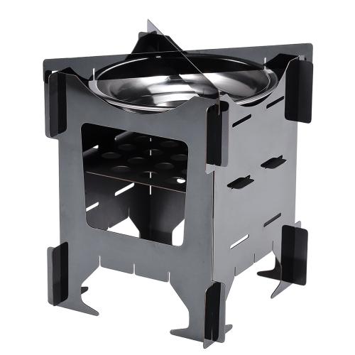 Campingkocher Portable Leichte Klapp Holzofen für Outdoor Kochen BBQ Backpacking