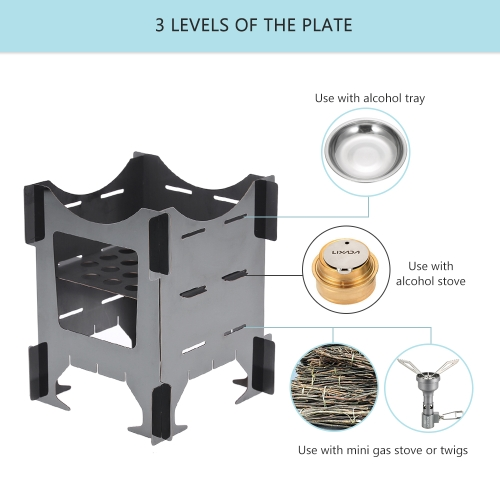 Camping Stove Portable Lightweight Folding Wood Stove