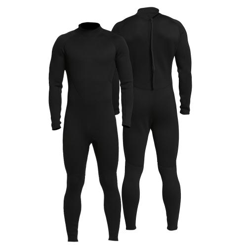 Wetsuit de corpo inteiro com zíper traseiro de 2 mm