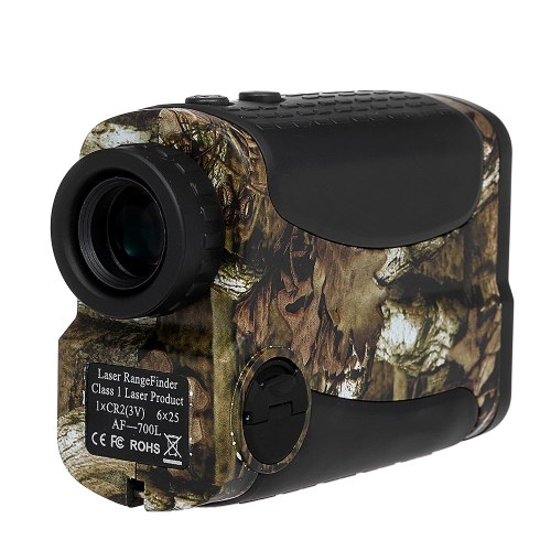 700 Yards 6X 25mm Laser Range Finder with Speed Scan and Fog Measurement Rangefinder for Hunting and Golf thumbnail