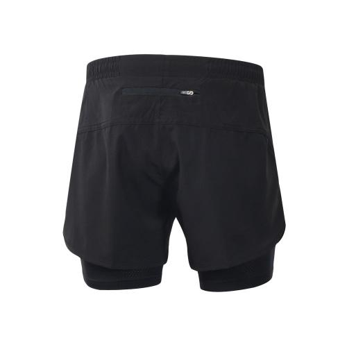 Lixada Men's 2-in-1 Running Shorts Быстрое высыхание Дышащее активное упражнение Упражнение Бег трусцой Шорты с длинным вкладышем фото