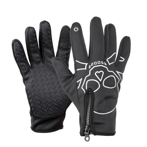 Ciclismo de inverno Full Finger Touchscreen Anti-derrapante bicicleta luvas quentes