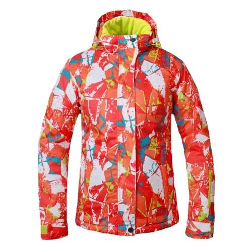 レディースフード付き防風スキージャケット