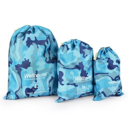 3パックのパックアウトドア旅行防水ドローストリングドライサックスタッフバッグ