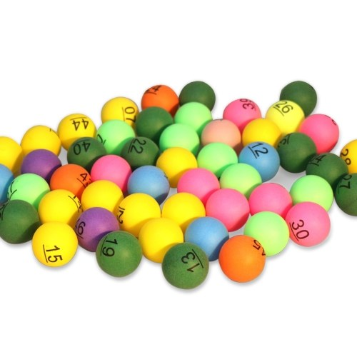 50 шт. Печатные шары для пинг-понга 40 мм цветные шары для лотереи развлечения мячи для настольного тенниса для игры и рекламы