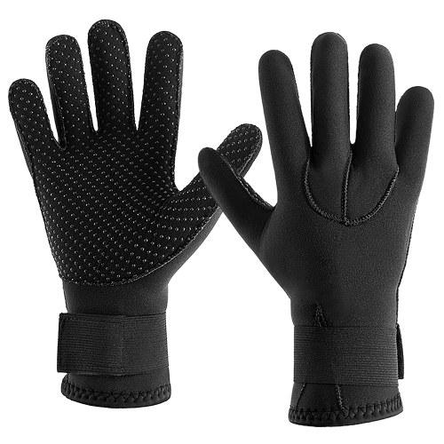 3MM Neoprene Wetsuit Gloves Warm Scuba Diving Gloves Winter Surfing Gloves Thermal Anti Slip Gloves for Spearfishing Swimming Rafting Kayaking Paddling
