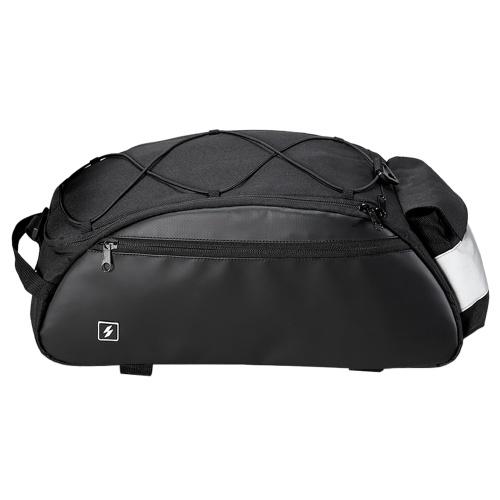 10L Bike Rack Bag Waterproof Cycling Bike Rear Seat Cargo Bag Bike Trunk Pack Shoulder Carry Bag Image