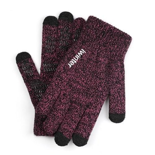 Gestrickte empfindliche Touchscreen-Handschuhe