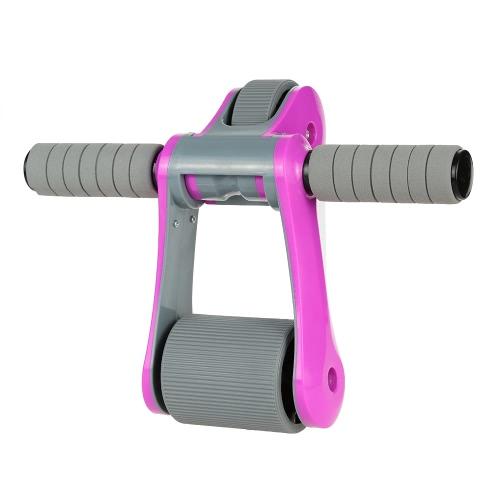 Folding Abdominal Rad Ab Roller mit Mat Muskeltraining Gym Übung Fitnessgeräte