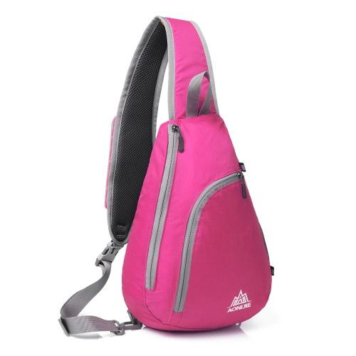AONIJIE Packable плеча рюкзак слинг Грудь Crossbody сумка Обложка пакет рюкзак для велосипедов Спорт Путешествия Отдых Пешие прогулки Учиться в России Мужчины Женщины