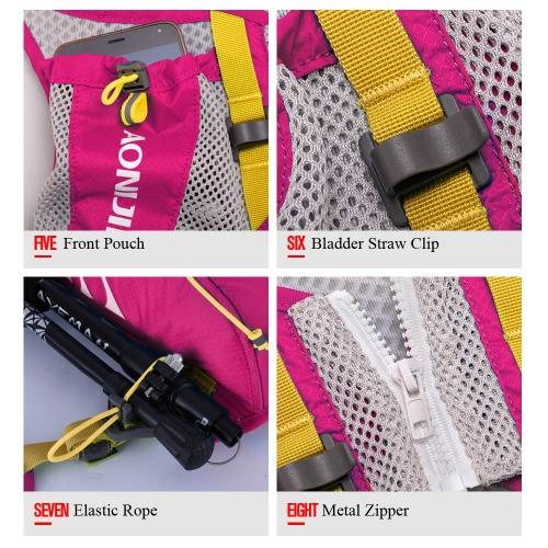 Immagine di AONIJIE Sport Zaino Outdoor funzionale e spalla Ultralight Racksack unisex di sport del sacchetto di acqua Confezione
