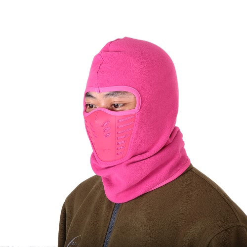 Lixada hiver polaire chaude facial Couverture anti-poussière coupe-vent Masque de ski