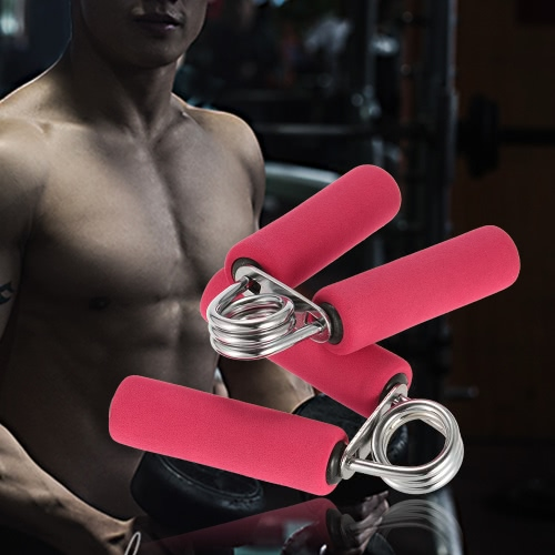 18KG espuma manija del músculo del brazo agarrador de la mano apretones del constructor de la muñeca de la mano que hacen ejercicio fortalecedor con espuma suave manijas de mano Fortalecedores