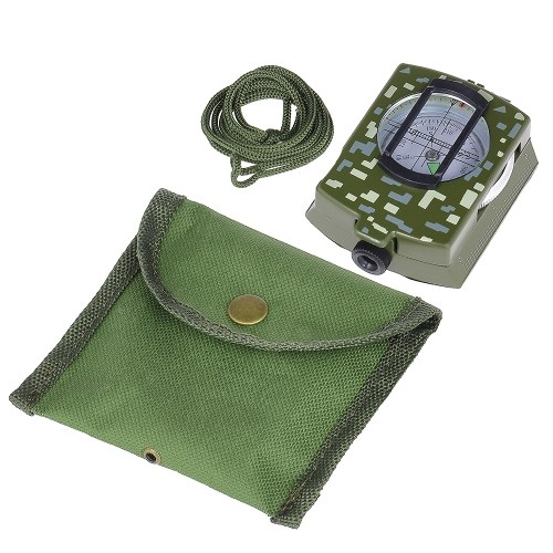 Portable Lensatic Compass Handheld Compass for Outdoor Camping Positioning Orienting Ploting