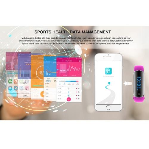 Fitness Tracker Watch Smart Band with Step Tracker Pedometer Bracelet Activity Tracker Sleep Monitor