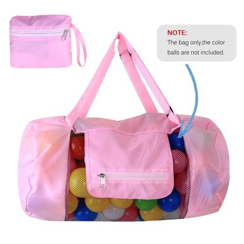 Beach Mesh Bag Toy Tote Drawstring Beach Backpack